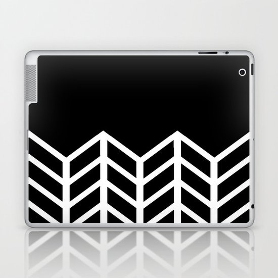 BLACK LACE CHEVRON Laptop & iPad Skin