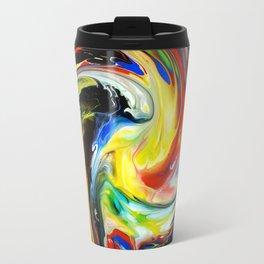 Fluid Abstract Colorful Whirlpool Print Travel Mug