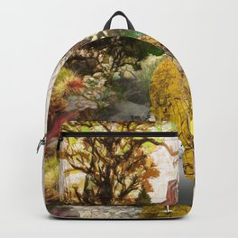 Geese on the golden lane Backpack