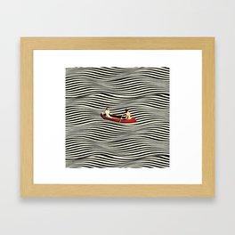 Illusionary Boat Ride Framed Art Print