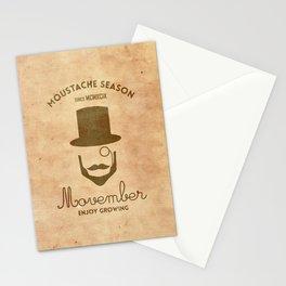 Moustache season Stationery Cards