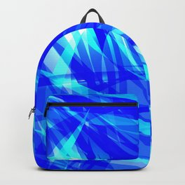 Vector glowing water background made of blue sea lines. Backpack