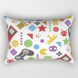 video game pattern Rectangular Pillow