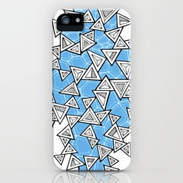Triangles and Tessellation in Blue iPhone Case