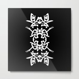 JAPANESE KANJI ART (KYUSAI=REMEDY) by AKIRA Metal Print