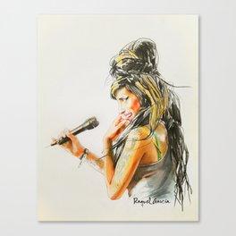 Winehouse Portrait 2 Canvas Print
