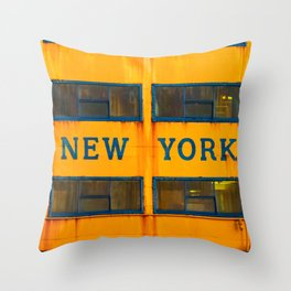 City of New York (Ferry) Throw Pillow