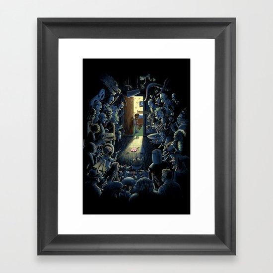 Be Afraid of the Dark Framed Art Print