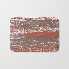 Orange Gray vague watercolor Bath Mat
