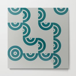 Hedgehog abstract geometric pattern with colorful shapes 201 Metal Print