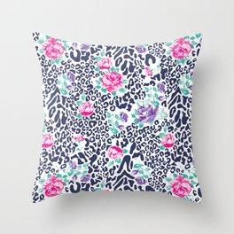 floral animal Throw Pillow