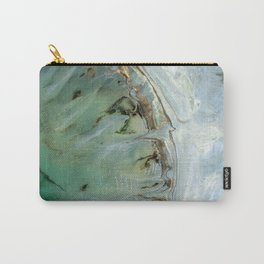 Marble teal & gold ocean Carry-All Pouch