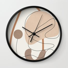 Abstract Line Movement III Wall Clock