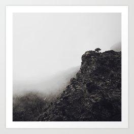 Foggy day Art Print