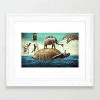 dali Framed Art Prints featuring Dali  by Veronika