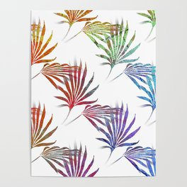 Palmetto Fronds Tropical Pattern Poster