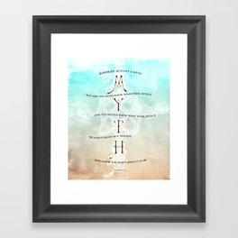 Jordan Peterson quote - Myth Framed Art Print