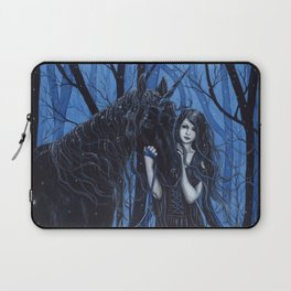 Midnight Travelers Gothic Fairy and Unicorn Laptop Sleeve
