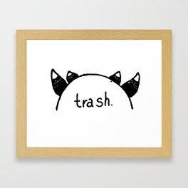 cosplaying trash Framed Art Print