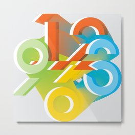 counting up Metal Print