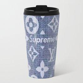 supreme lv grey Travel Mug