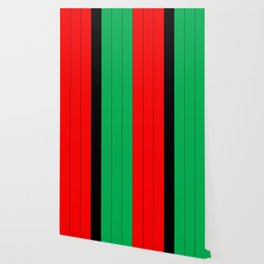 Kwanzaa Red Black Green Stripes Wallpaper