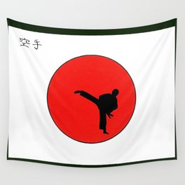 Art Of Karate Print Wall Tapestry