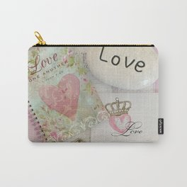 Shabby Chic Love Romantic Decor - Love Skeleton Key Prints Home Decr Carry-All Pouch