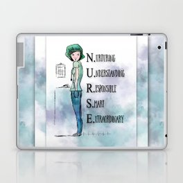 Nurse with Stethoscope Laptop & iPad Skin