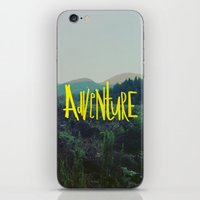 adventure iPhone & iPod Skins featuring Adventure by Leah Flores