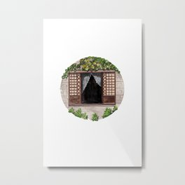 Typical Philippines Ancestral House Window Metal Print