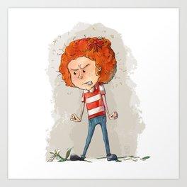 Fiery Redhead Art Print