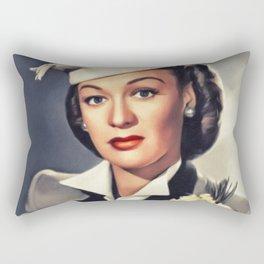 Eve Arden, Vintage Actress Rectangular Pillow