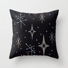 Mid Century Modern Stars Throw Pillow
