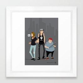What?! Framed Art Print