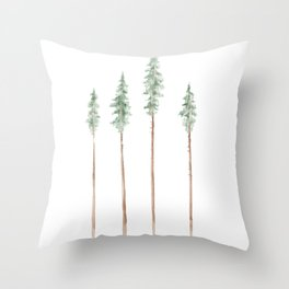 Watercolor Trees Throw Pillows For Any Room Or Decor Style Society6