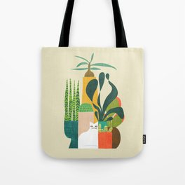 Still life with cat Tote Bag