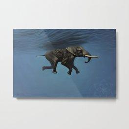elephant underwater Metal Print