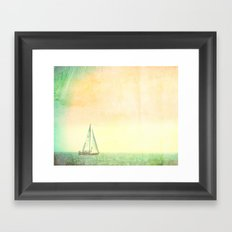 Smell the Sea and Feel the Sky Framed Art Print