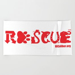 Rescue Red Beach Towel