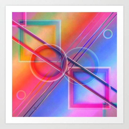Geometry pastell Art Print
