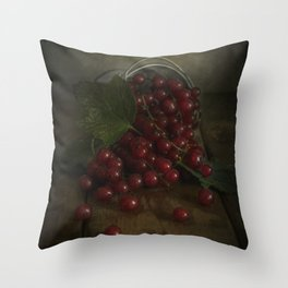 Still life with red currants Throw Pillow