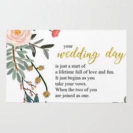 Wedding day Rug