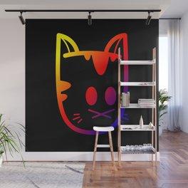 Big Ol' Cat Logo: With Moar Rainbows! Wall Mural