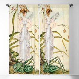 """Fairy Standing on a Grasshopper"" by Amelia Jane Murray Blackout Curtain"