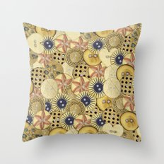 Covered in Buttons Throw Pillow