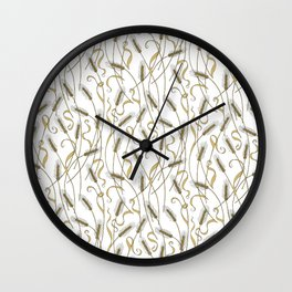 Art Nouveau - Scattered Wheat Wall Clock
