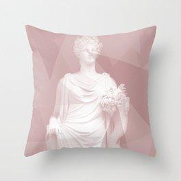 Modern Statue Throw Pillow