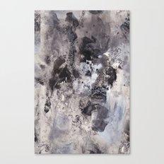 Monochrome Chaos Canvas Print