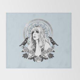 Stevie Nicks Angel Of Dreams Throw Blanket